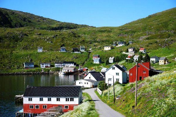 El norte , Las montañas de Finnmark, Noruega , Noruega