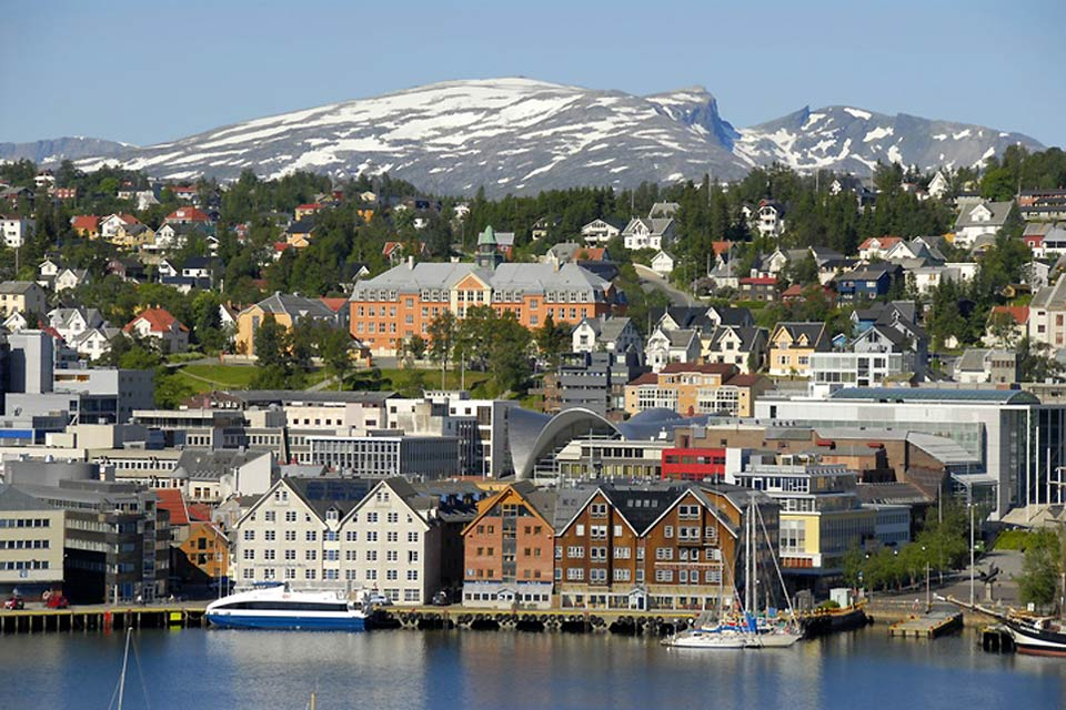 The North , A colourful town in Norway , Norway
