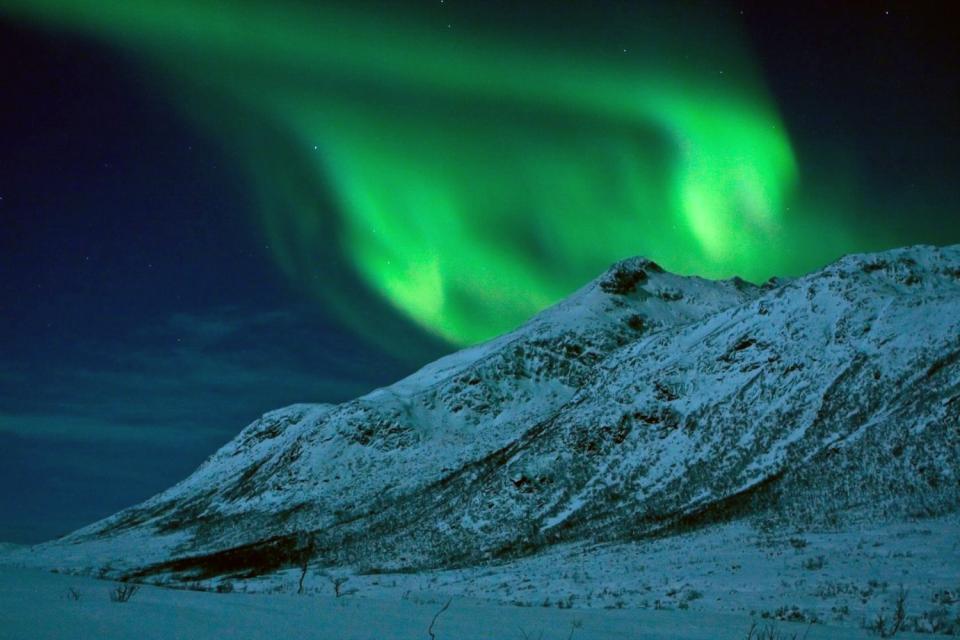 Las auroras boreales , Noruega
