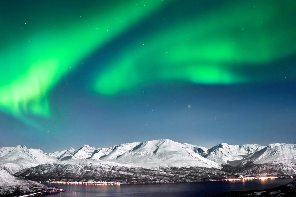 El fenómeno de las auroras boreales, Las auroras boreales, Los paisajes, Oslo, Noruega