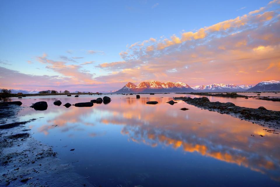 Il sole di mezzanotte , Crociera di mezzanotte , Norvegia