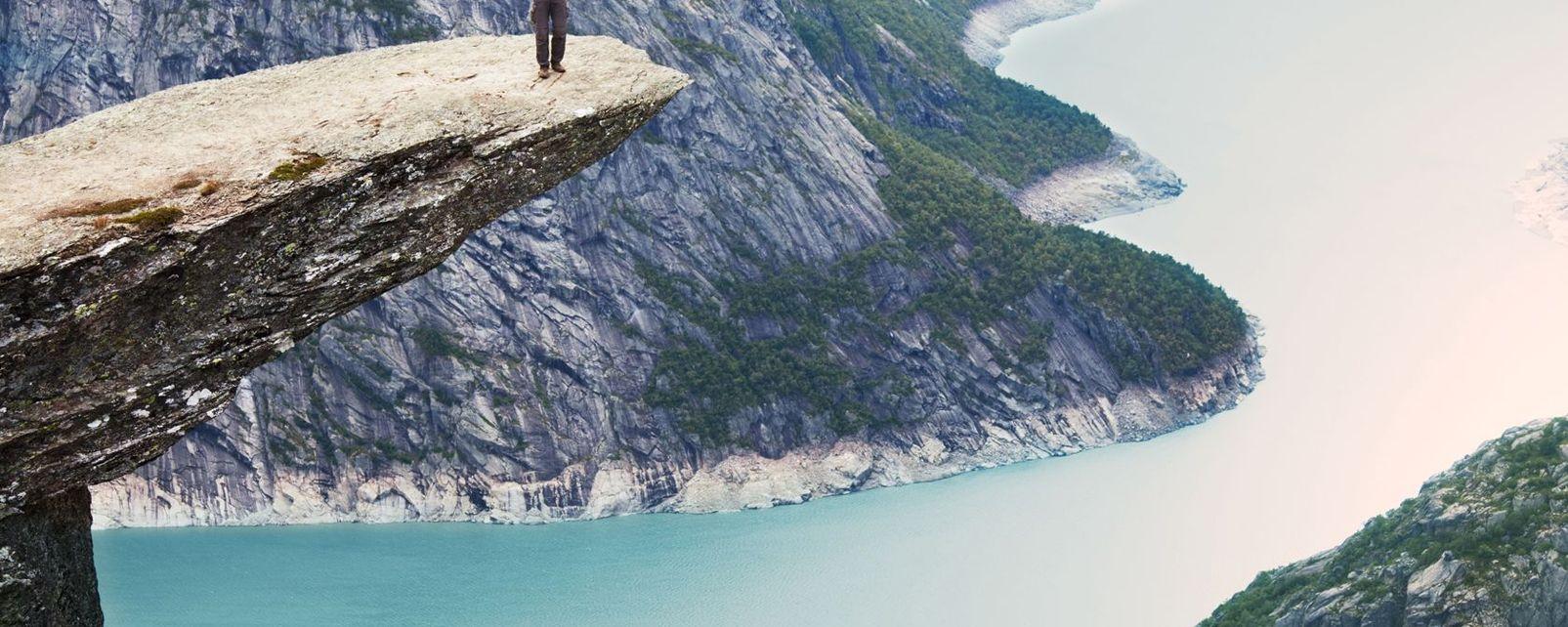 Paysage fjordien vu du ciel, Les fjords, Les côtes, Oslo, Norvège