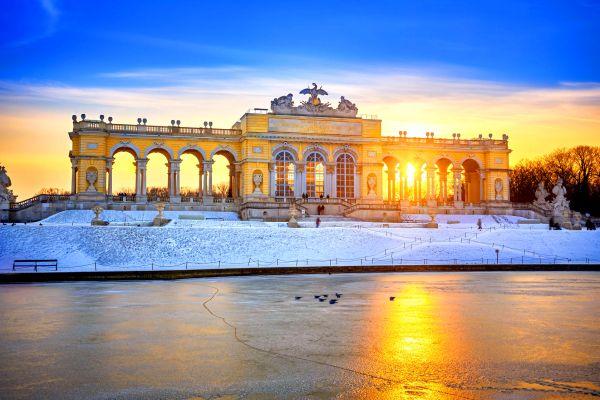 Fountains and greenery, The Schönbrunn Palace, Castles, Vienna, Austria