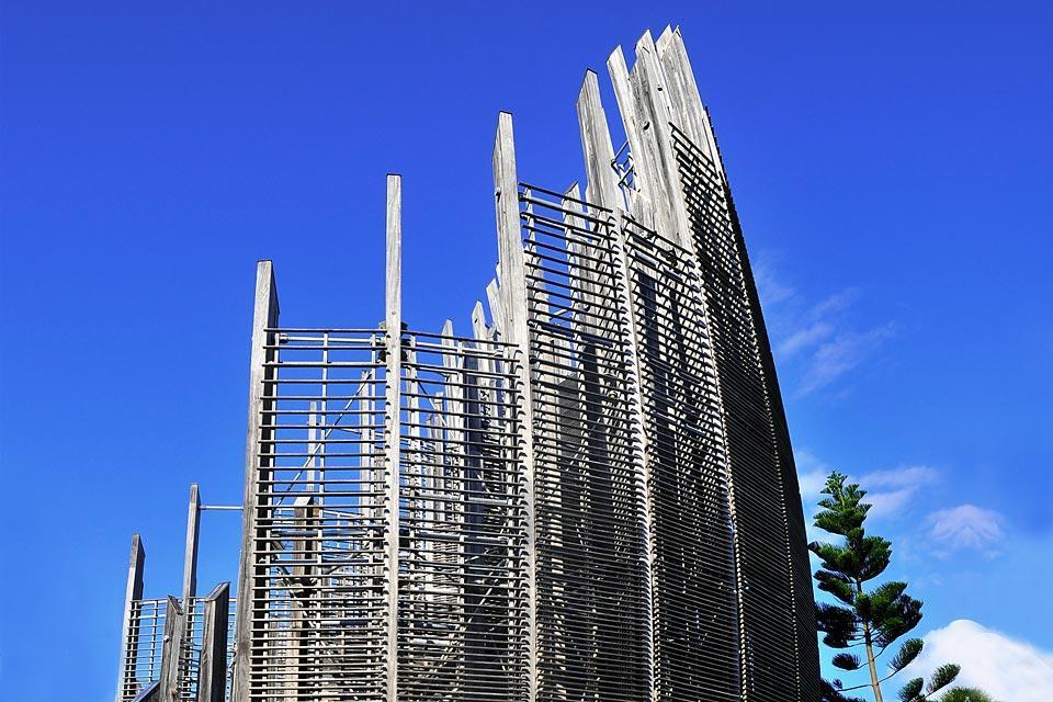 Grande Terre , Nouméa , Le centre culturel Jean-Marie-Tjibaou , Nouvelle-Calédonie