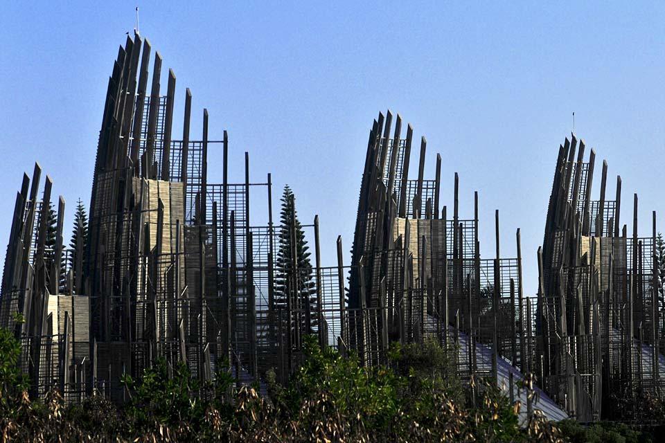 Grande Terre , Nouméa , Le centre culturel Jean-Marie-Tjibaou , Nouméa:Le centre culturel Jean-Marie-Tjibaou , Nouvelle-Calédonie