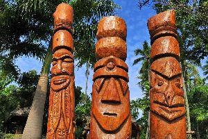 Las islas Loyauté , Lifou , La escultura , Nueva Caledonia
