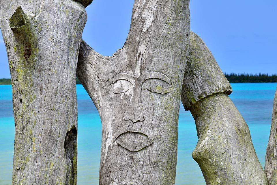 Les îles Loyauté , Lifou , La sculpture , Nouvelle-Calédonie