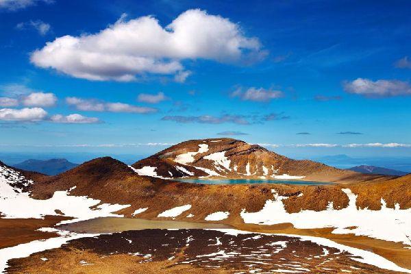North Island , El lago Taupo , El Parque Nacional de Tongariro , Nueva Zelanda