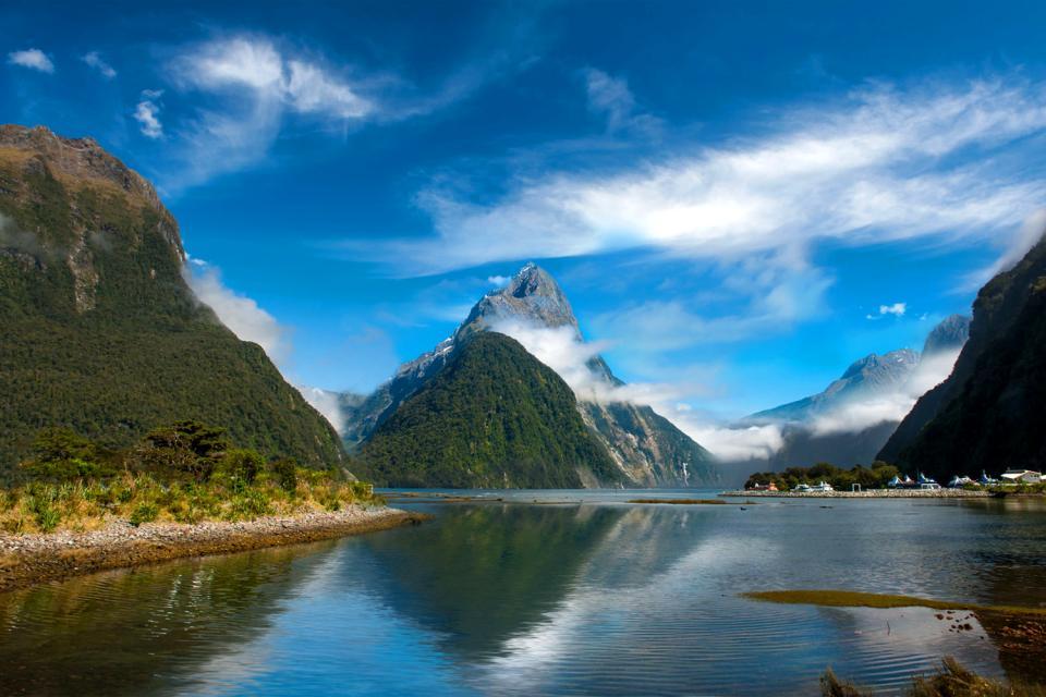 Südinsel , der Nationalpark von Fiordland , Südinsel , Nationalpark von Fiordland , Neuseeland