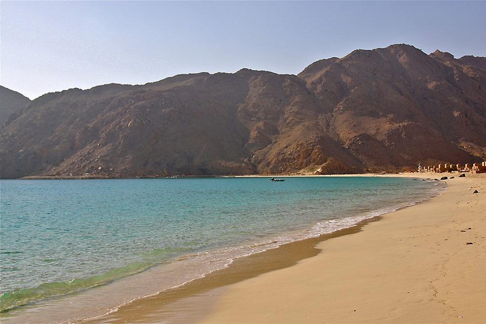 La péninsule du Musandam , Plage de la péninsule du Musandam , Sultanat d'Oman