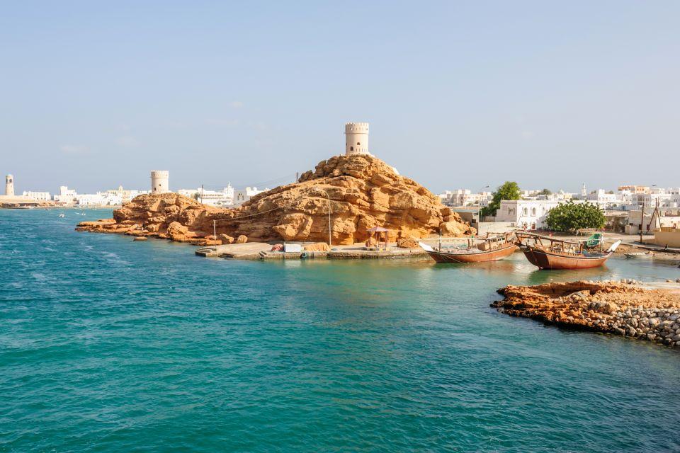 Les côtes, moyen-orient, proche-orient, oman, sultanat, sur, ville, tour