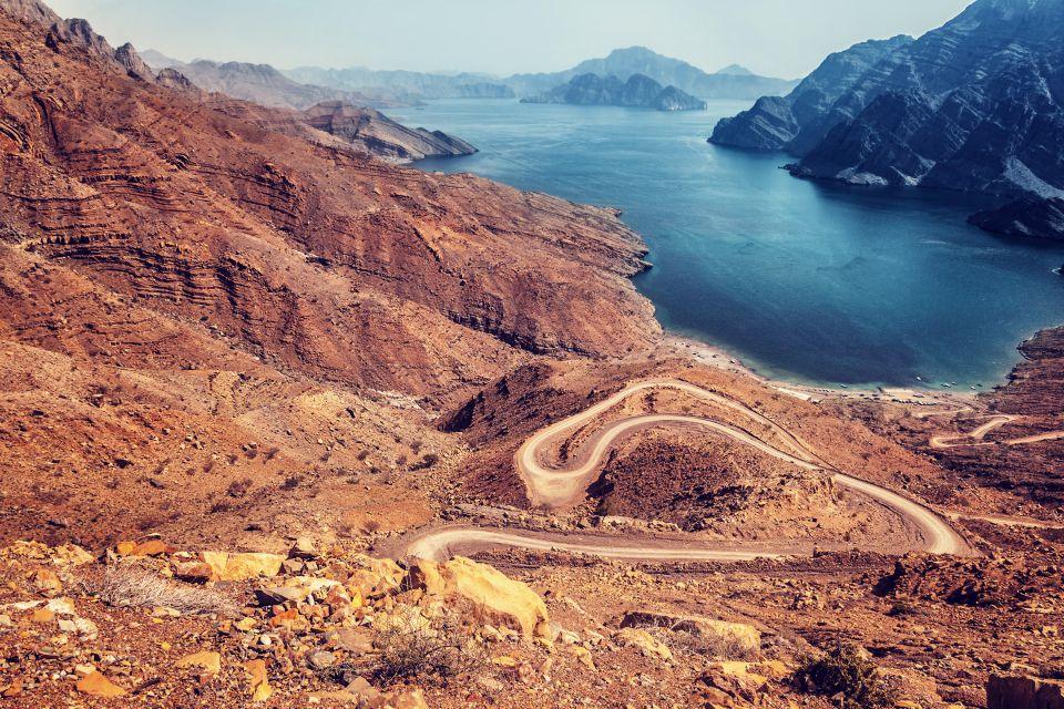 Les côtes, moyen-orient, proche-orient, oman, sultanat, route, côte, golfe, golfe persique
