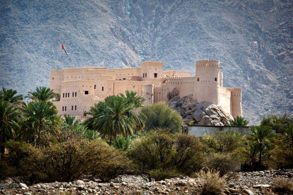 Les monuments, nakhl, fort, moyen-orient, fort, guerre, oman, sultanat