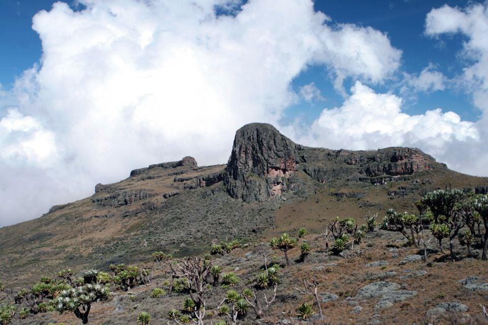 The Mount Elgon volcano, The volcano Mount Elgon, Landscapes, Uganda