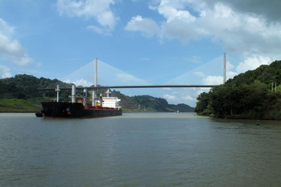 The canal , The Centennial Bridge , Panama