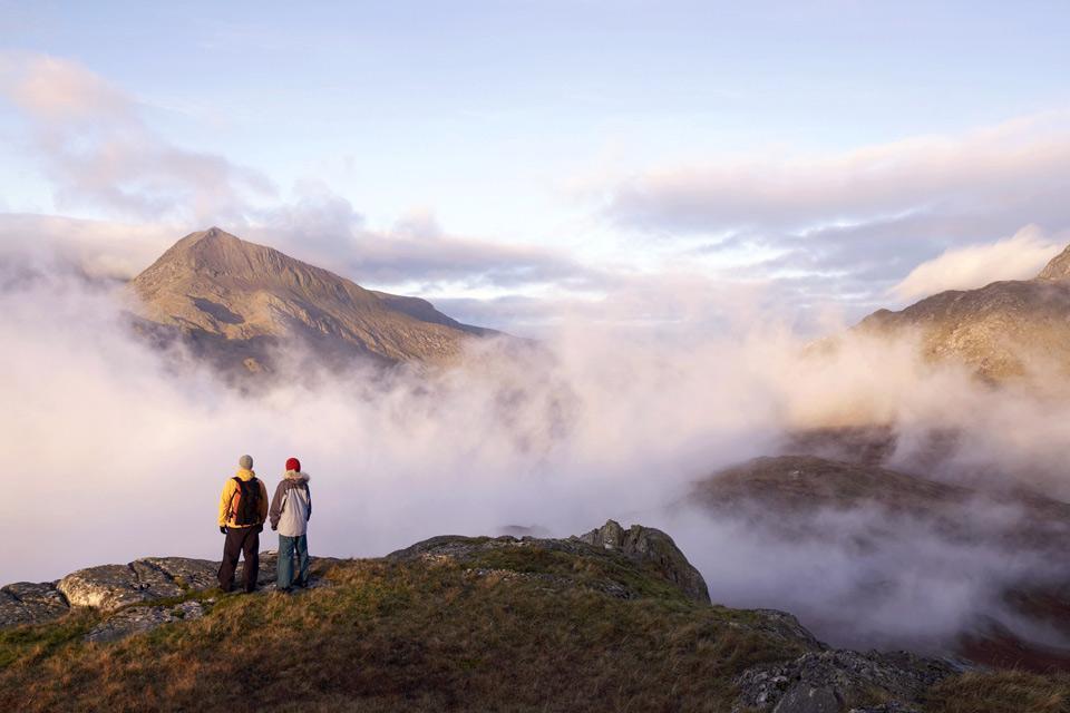 Il Parco Nazionale di Snowdonia , parco nazionale di Snowdonia nel Galles , Regno Unito