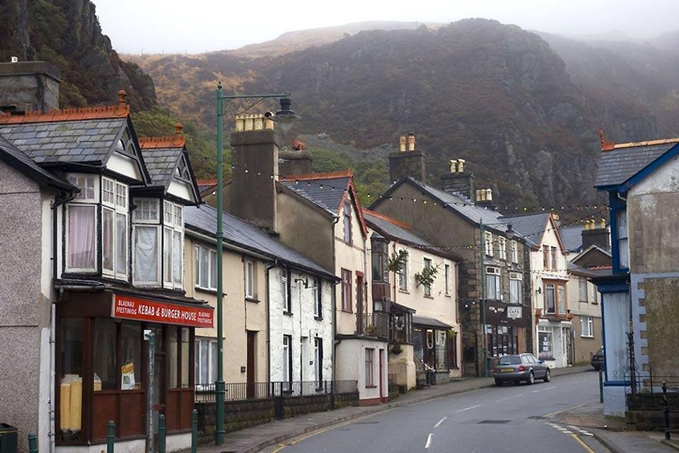Il Parco Nazionale di Snowdonia , villaggio di Blaenau Ffestiniog , Regno Unito