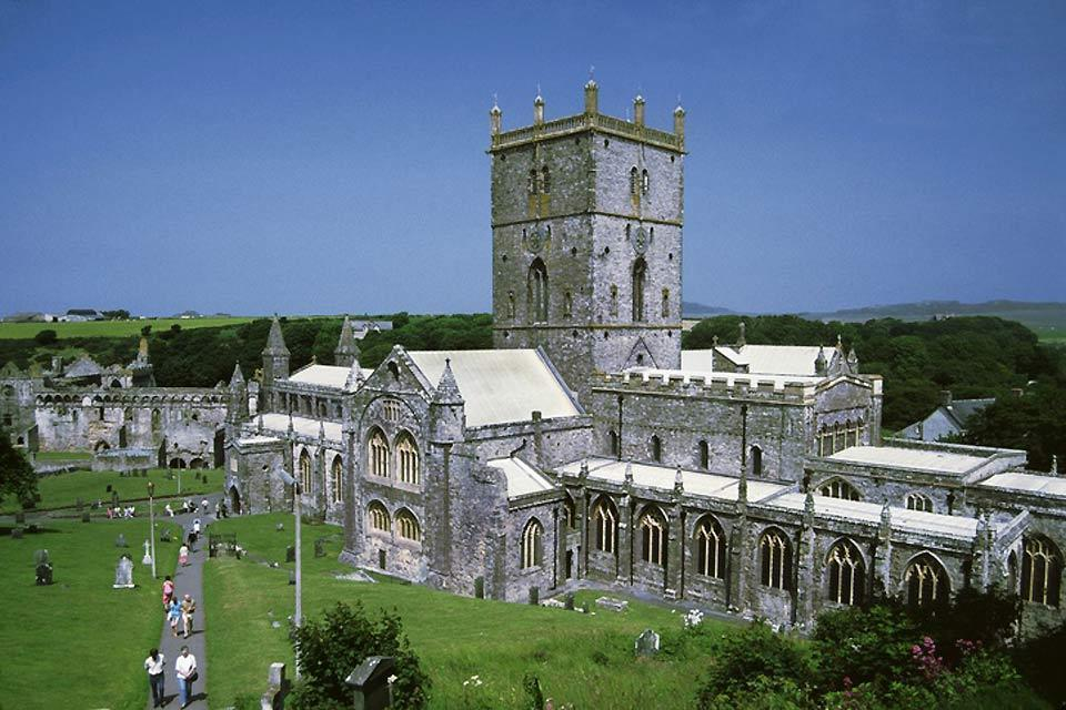 Die Westküste , Die Kathedrale von St. David's in Wales , Großbritannien