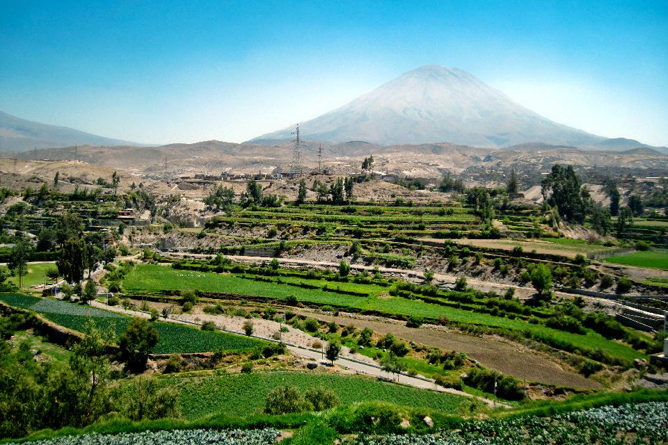 Misti volcano and Colca canyon , Volcanoes and canyons , Peru