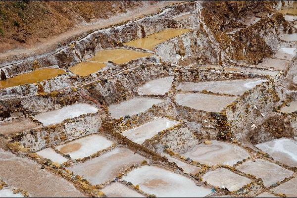 Les mines de sel de Maras , Pérou