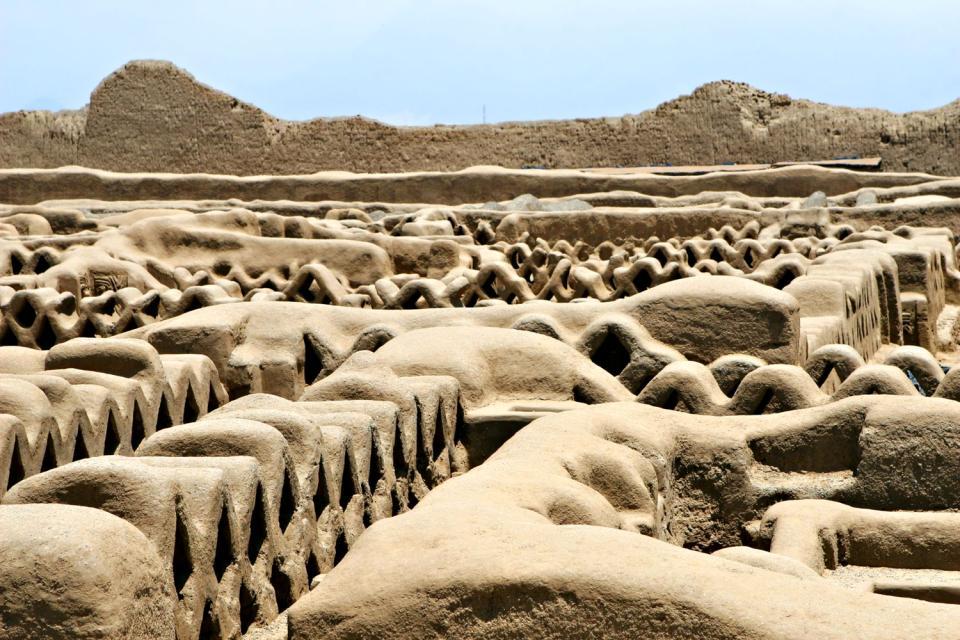 La citadelle de Chan Chan , Pérou