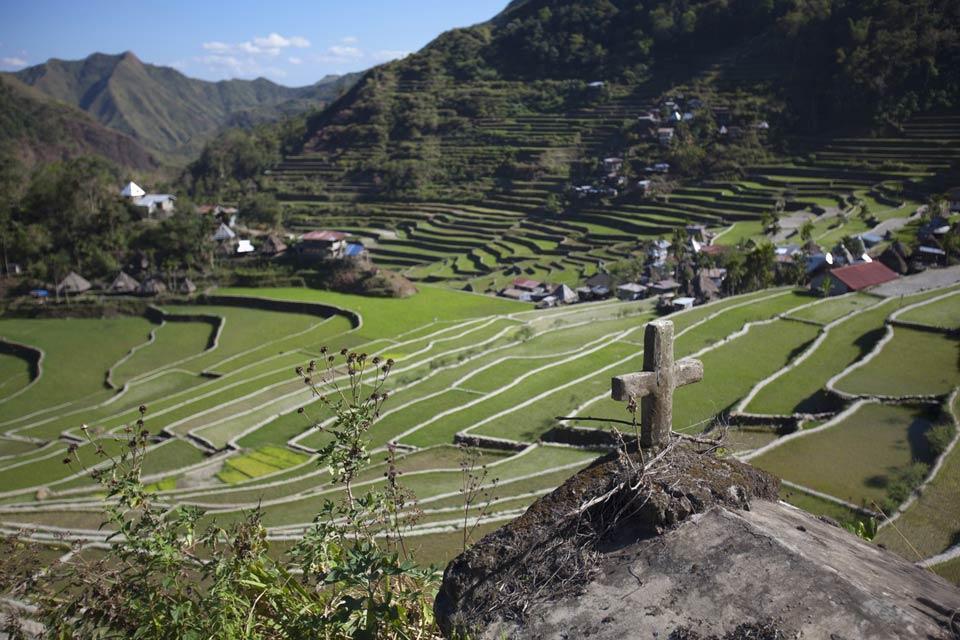 Le risaie di Banaue (Luzon) , La manutenzione delle risaie , Filippine