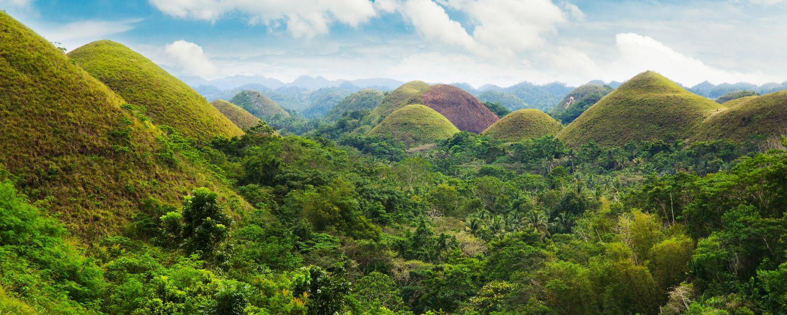 Les paysages, Bohol, philippines, Asie, chocolate hills, montagne