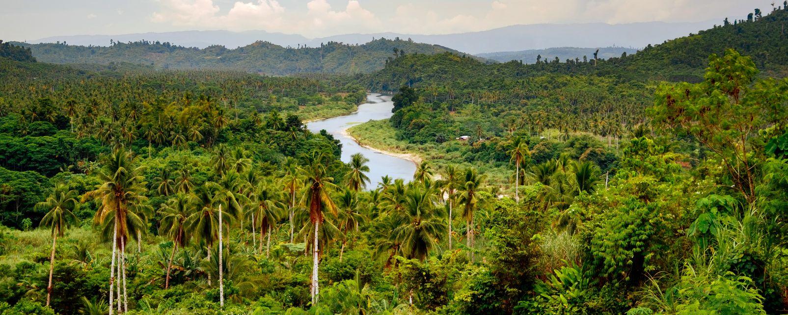 Les paysages, Philippines, mindanao, sud, asie