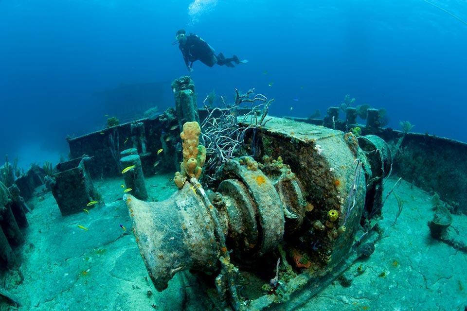 Le immersioni , Lo spot di Sapona , Bahamas