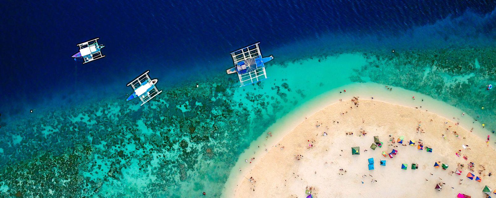 Les côtes, cebu, oslob, philippines, visayas, sumilon, île, asie