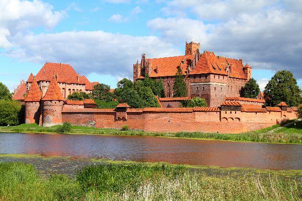 Il castello di Malbork , Polonia