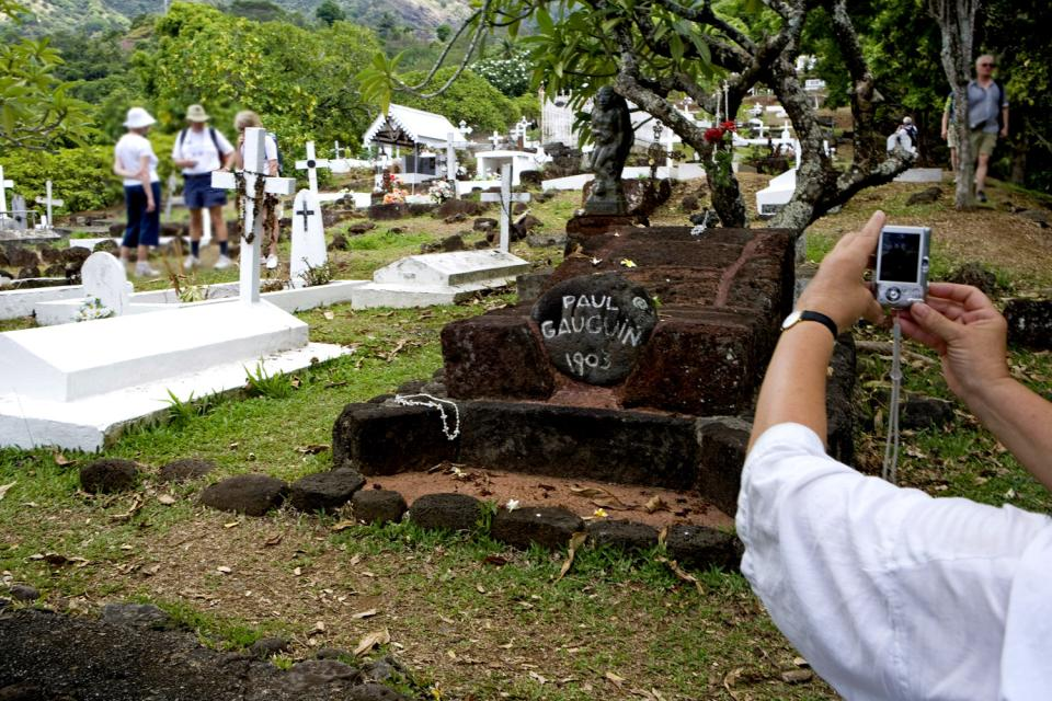 Il cimitero del Calvario , Il cimitero di Atuona , Polinesia francese