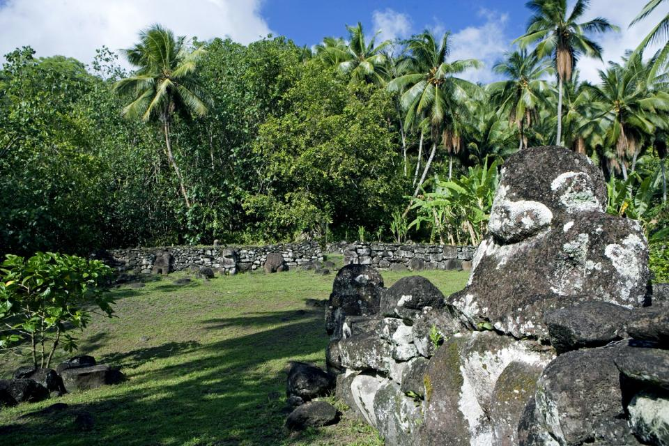 Le vestigia di Naku Hiva , Polinesia francese