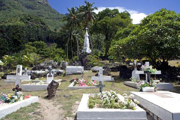 les vestiges sur Tahuata , Polynésie