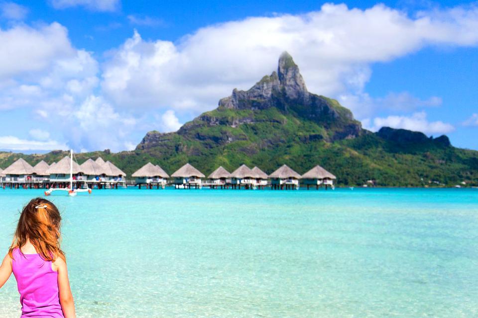 Bora Bora , I monti Otemanu e Pahia , Polinesia francese