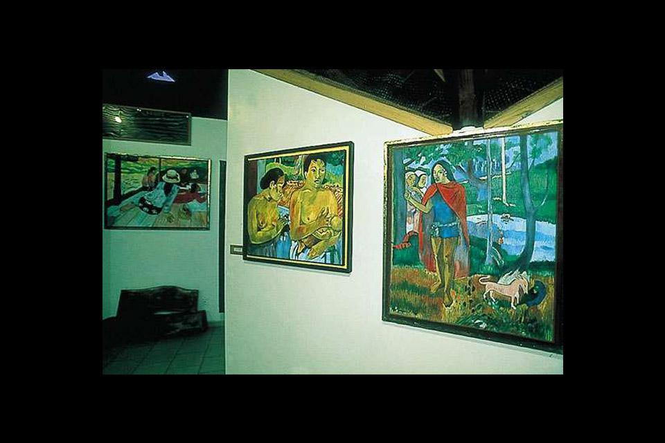 Las galerías de arte de Moorea , Polinesia