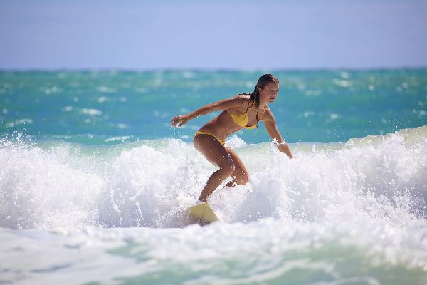 Surfing on the North-West beaches , Puerto Rico
