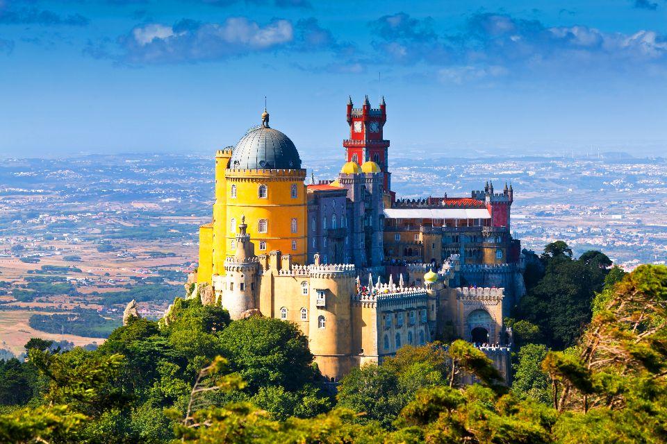 Die Estremadura und die Beiras , Panoramasicht von einer Festung aus , Portugal