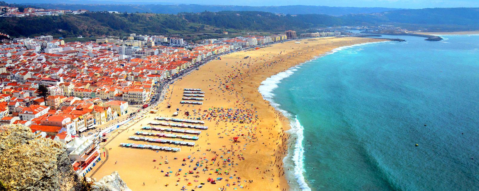 Les falaises de l'Estremadura , Falaises et océan déchainé , Portugal