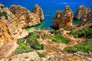 La costa dell'Algarve , Sembrerebbe di essere a sud... , Portogallo