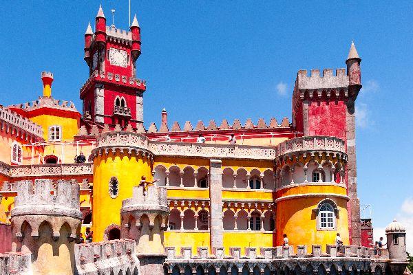 L'architecture , Le palais national de Pena à Sintra , Portugal