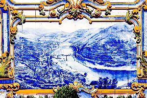 Azulejos , Azulejos am Bahnhof von Pinhao , Portugal