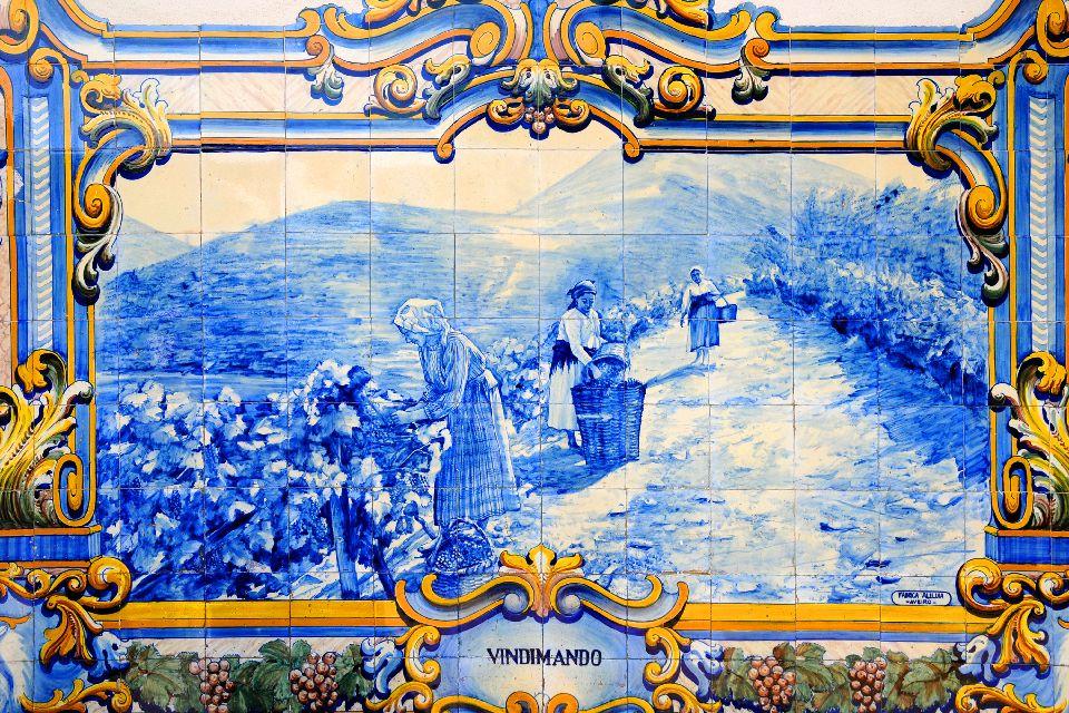 Gli azulejos , La stazione di Pinhao in Portogallo , Portogallo