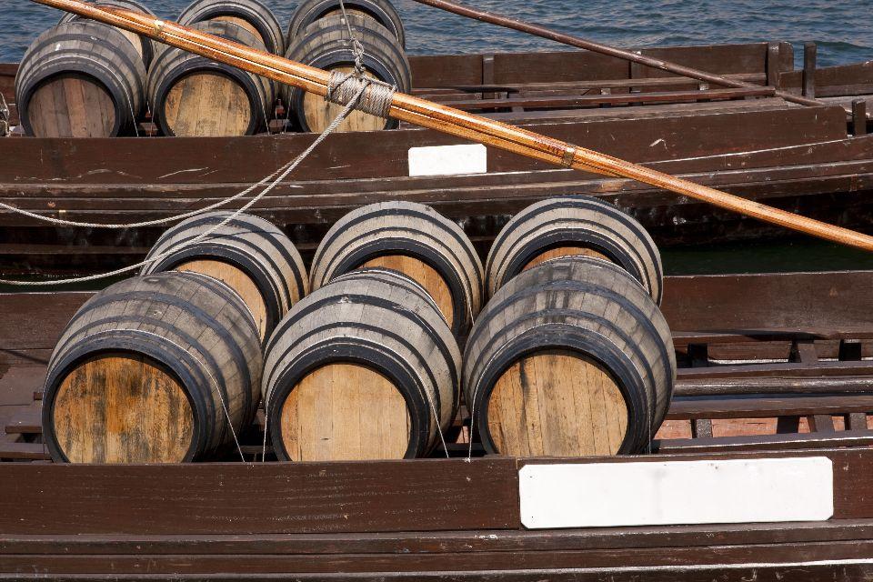 Il porto , Barili di vino Porto in Portogallo , Portogallo
