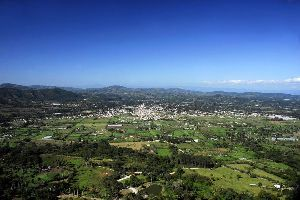 La cordillera central , República Dominicana