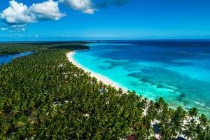 La côte des Caraïbes , Une vraie carte postale... , République dominicaine