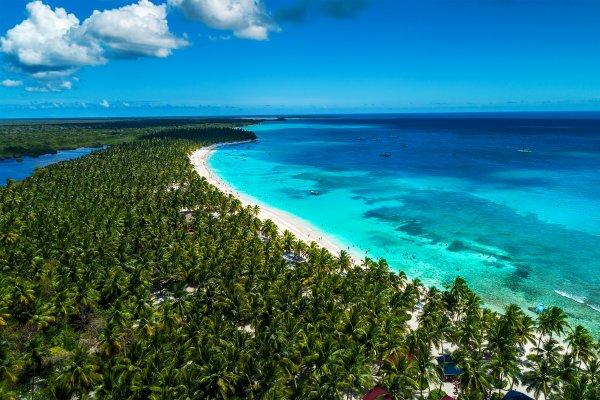 La costa del Caribe y de los cocoteros , Una auténtica foto de postal... , República Dominicana