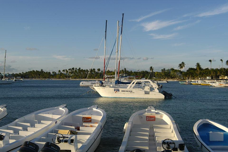 Caribbean and Coconut coasts , Yachts in Bayahibe , Dominican Republic