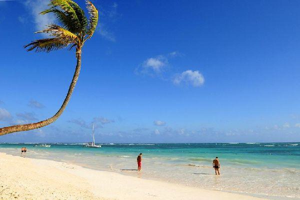Die Costa Verde (Grüne Küste) , Eine wahre Postkartenlandschaft , Dominikanische Republik