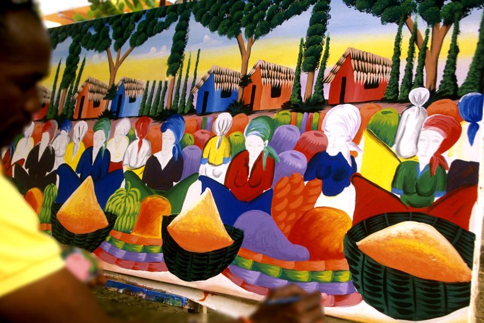 La peinture , L'art naïf dominicain , République dominicaine